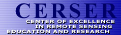 CERSER :: Center of Excellence in Remote Sensing Education and Research